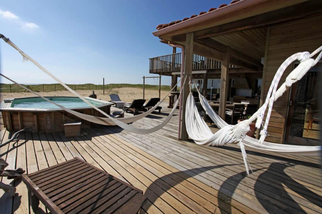 piscine 1f - Location Villa de Vacances en Bord de Mer à Seignosse Hossegor Landes