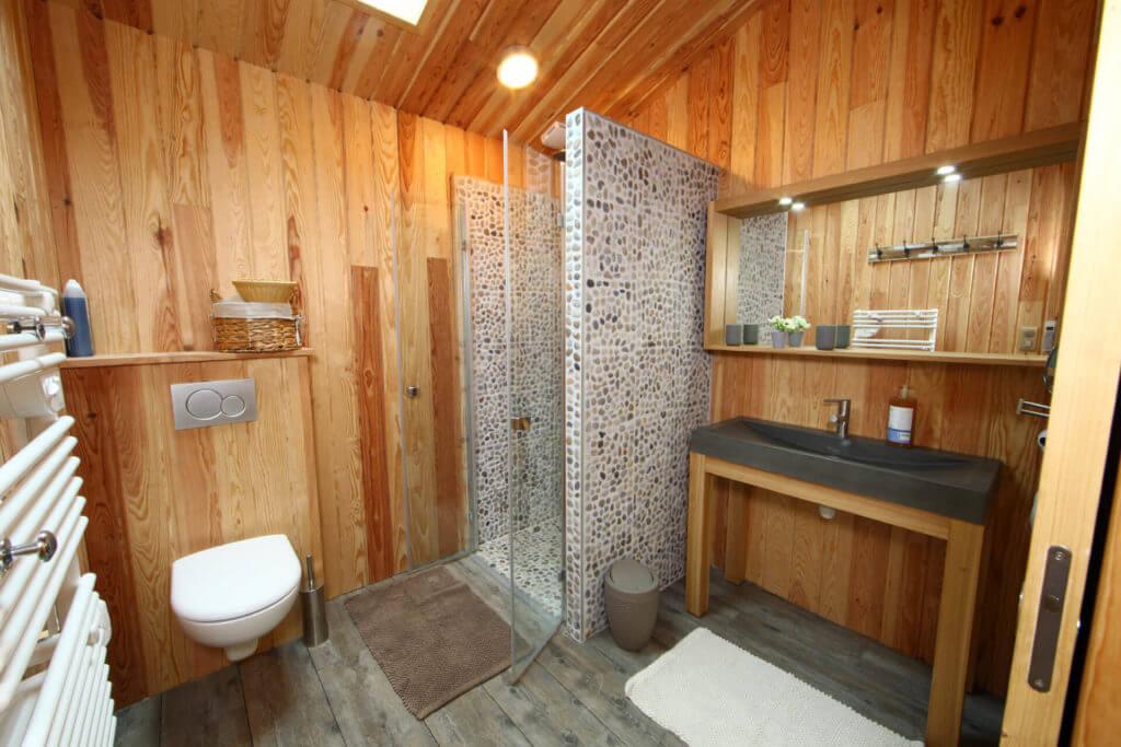 salle de douche de la chambre 1 - Location Villa de Vacances en Bord de Mer à Seignosse Hossegor Landes
