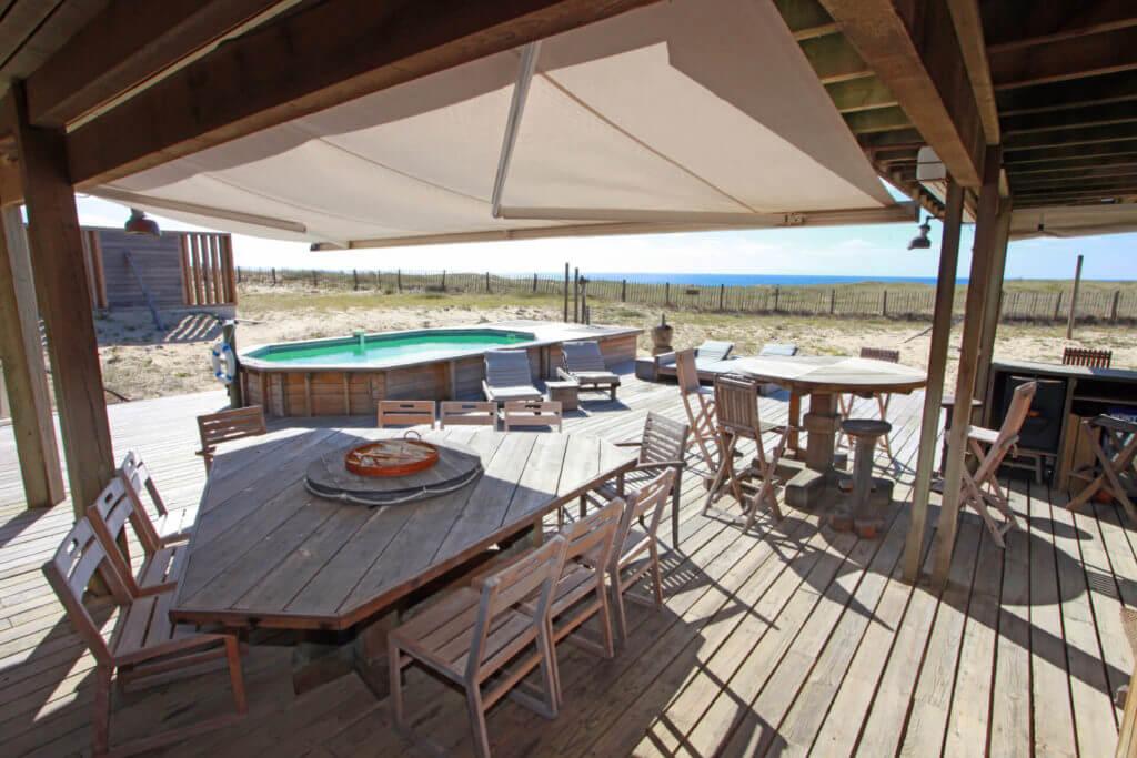 piscine 1i - Location Villa de Vacances en Bord de Mer à Seignosse Hossegor Landes