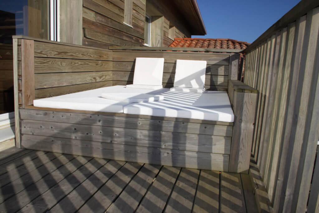 Suite parentale vue mer avec terrasse - Location Villa de Vacances en Bord de Mer à Seignosse Hossegor Landes