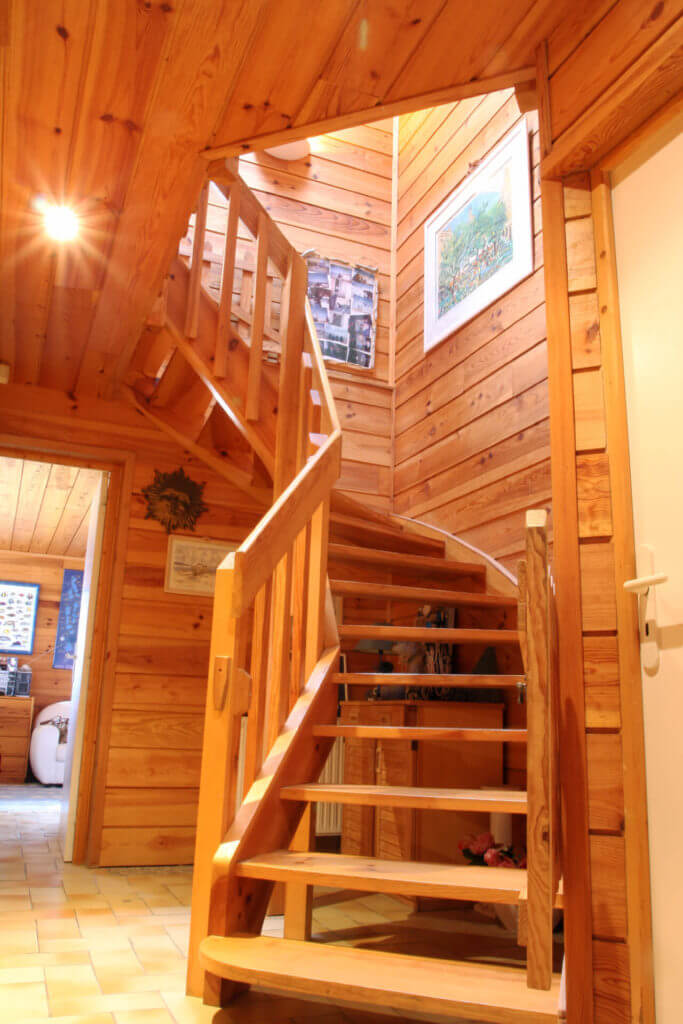 Escalier - Location Villa de Vacances en Bord de Mer à Seignosse Hossegor Landes