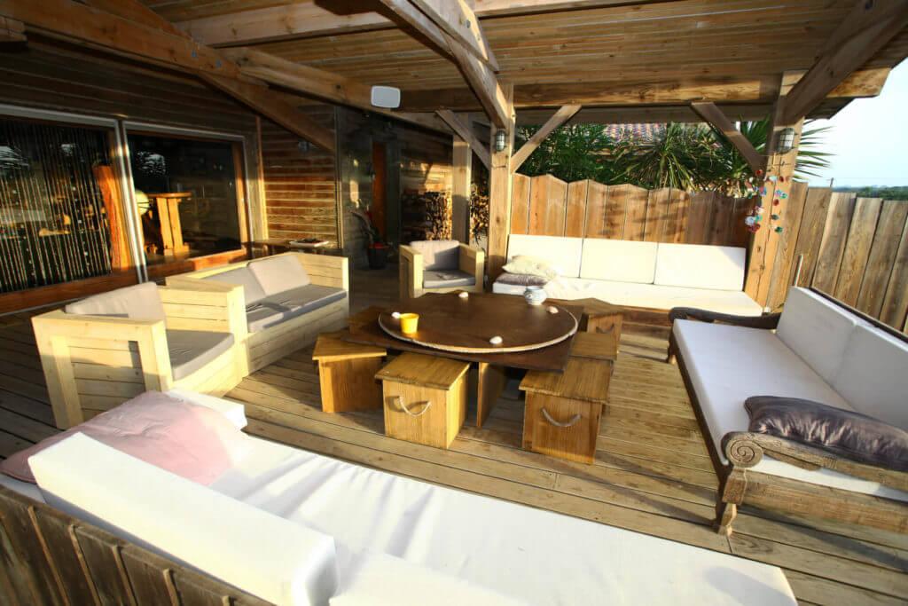 terrasse 2 - Location Villa de Vacances en Bord de Mer à Seignosse Hossegor Landes