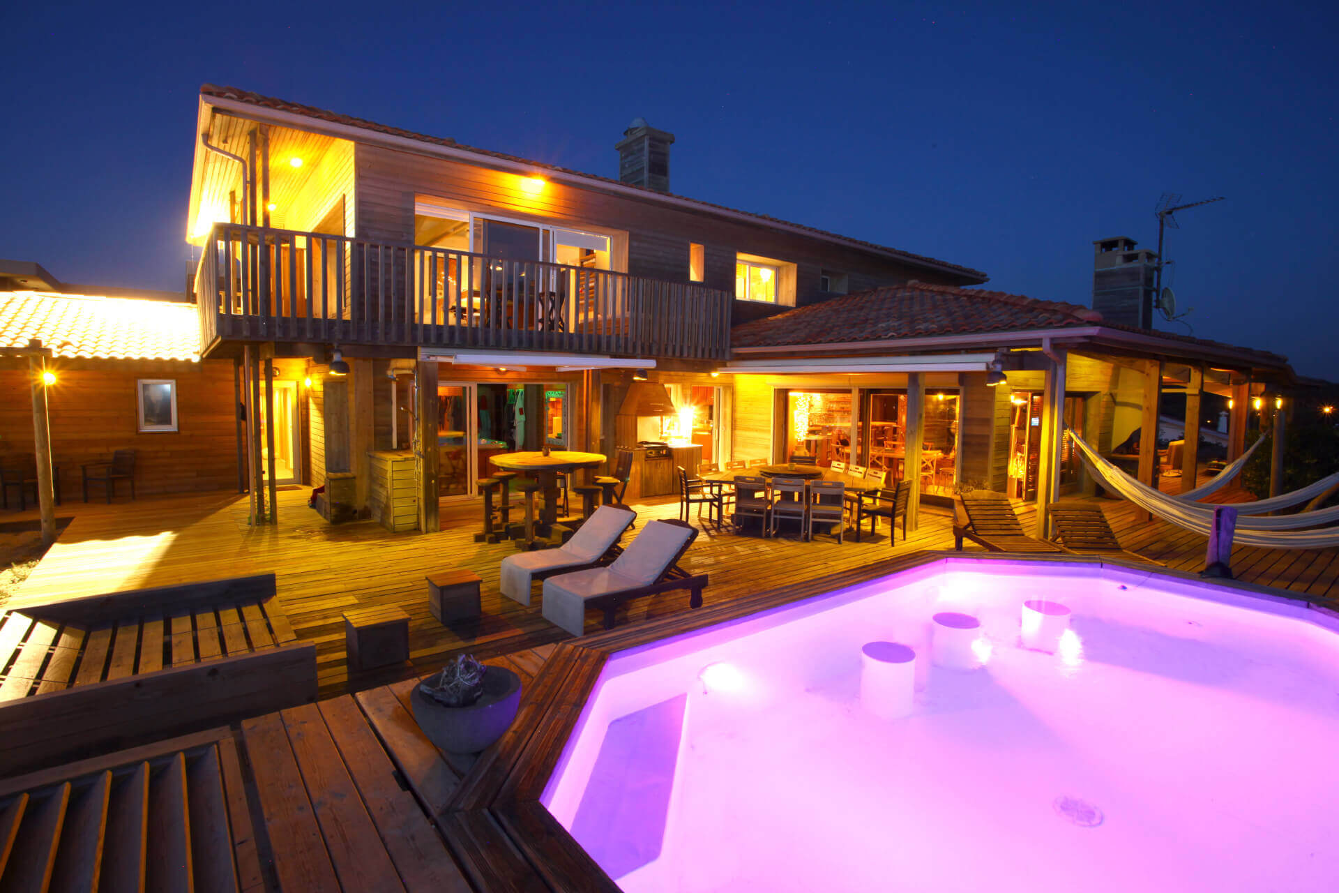 piscine 1a - Location Villa de Vacances en Bord de Mer à Seignosse Hossegor Landes