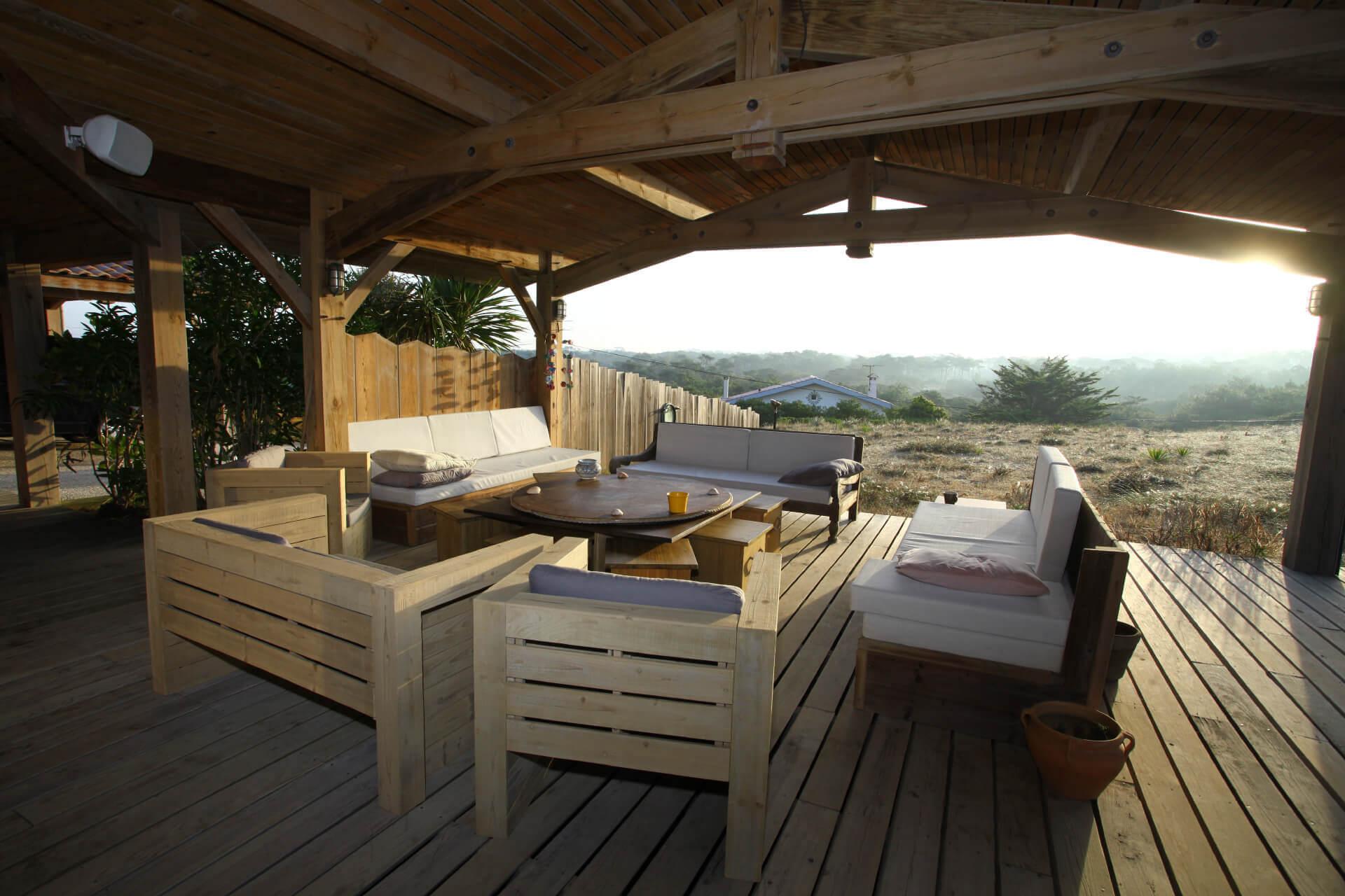 Terrasse 5 - Location Villa de Luxe Vue Mer à Seignosse Hossegor, Landes
